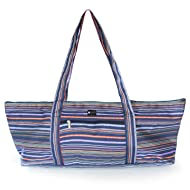 Aurorae Yoga Mat Tote Bag   Mat Carrier   Easy Access snap Closure   Large Outside and Inside Pockets with Secure Zipper Closures
