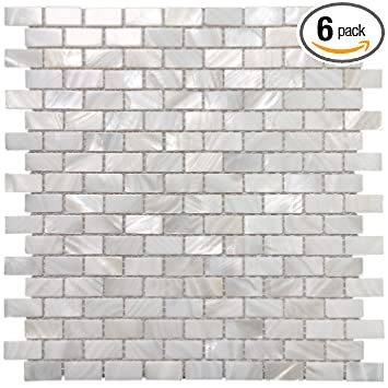 art3d mother of pearl shell mosaic tile for kitchen bathroom tile white subway