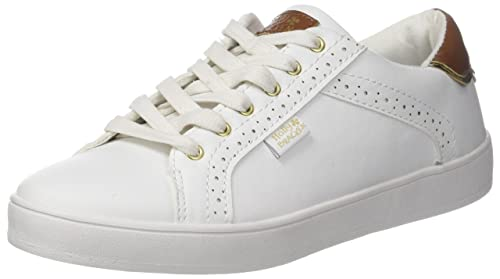Molly Bracken La Basket Blanche, Zapatillas para Mujer, Blanco (White), 38 EU: Amazon.es: Zapatos y complementos