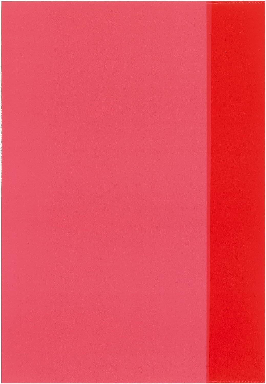 Herlitz Lot de 10/Prot/ège-cahiers//Prot/ège-cahiers DIN A4//Couleur Rouge Transparent