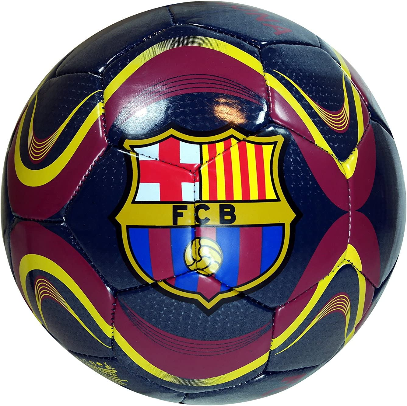 Amazon Com Fc Barcelona Soccer Ball Away Colors Orange Size 5 Sports Outdoors