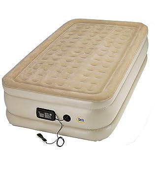 Serta Raised Sistema de colchón 20 cm de Lujo Apoyo Bobina de Aire w Indicador de presión/Mando a Distancia, Adulto Unisex, marrón Claro: Amazon.es: ...