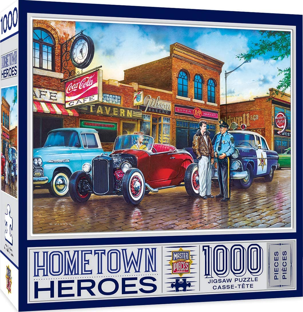 MasterPieces Hometown Heros Jigsaw Puzzle, A Little Too Loud, Featuring Art by Dan Hatala, 1000Piece, Assorted