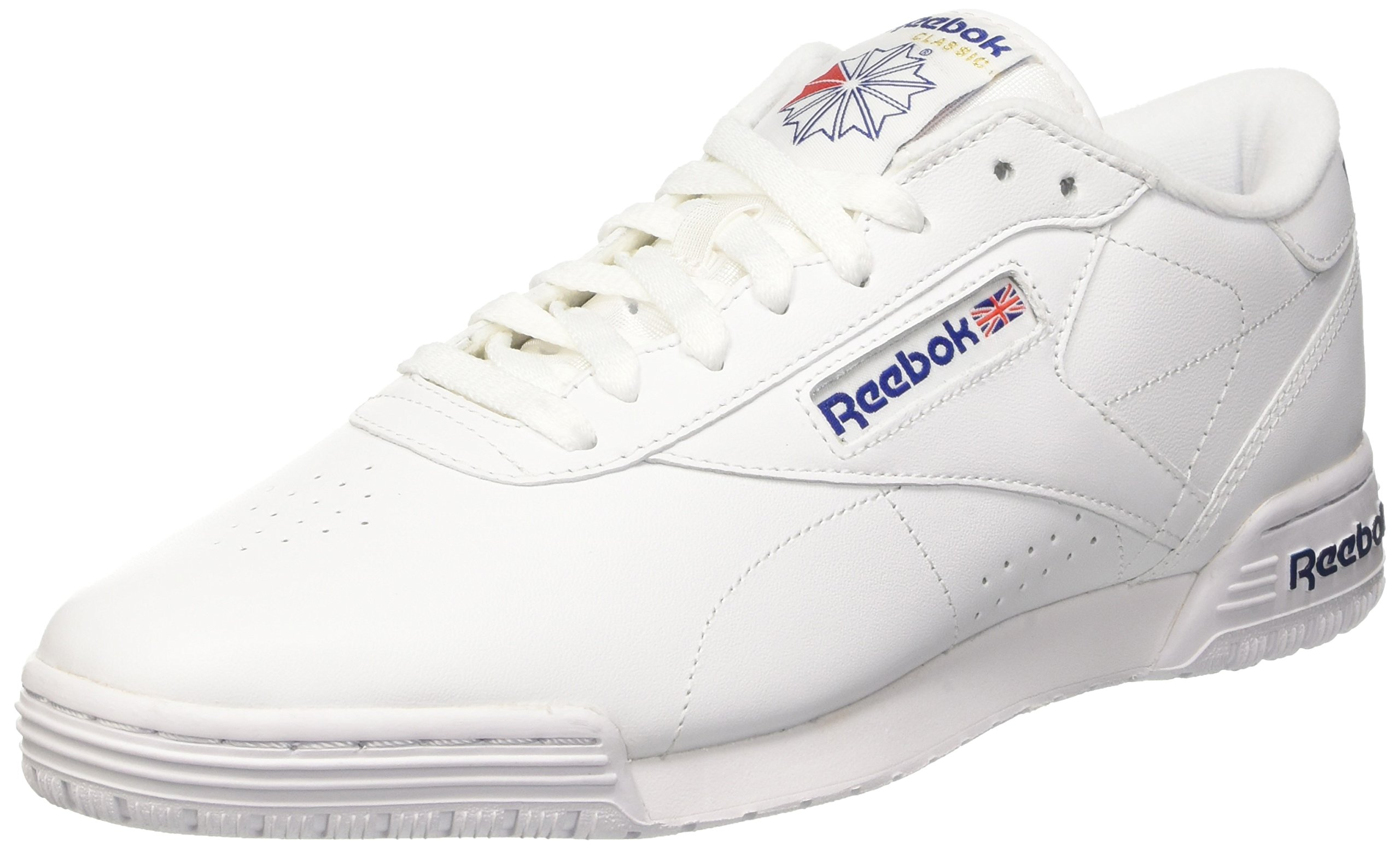 reebok mens ex o fit clean logo trainers white white. Black Bedroom Furniture Sets. Home Design Ideas