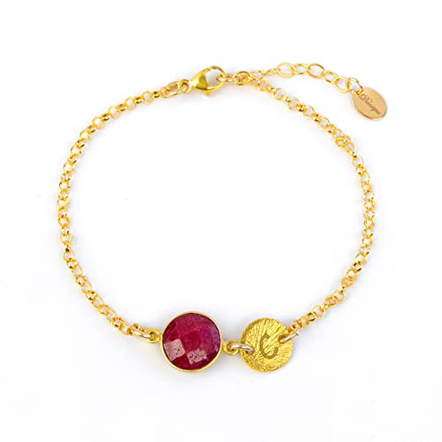 Amazon Com July Birthstone Bracelet Personalized Bracelet Ruby