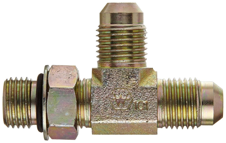 Flare-Twin Fitting 5//16 Straight Thread O-Ring Boss x 5//16 JIC Male 5//16 Straight Thread O-Ring Boss x 5//16 JIC Male Run Tee JIC Eaton Weatherhead C5716X5 Carbon Steel SAE 37 Degree