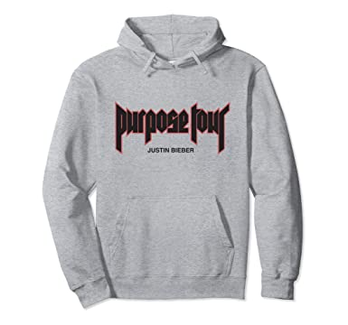 3fbf973cf21c Unisex Justin Bieber Purpose Tour Merch Filled Hoodie 2XL Heather Grey