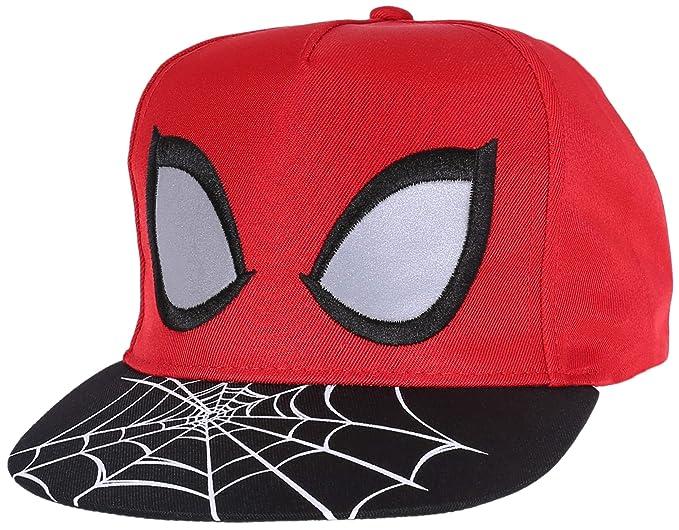 Gorra de Color Rojo y Negro Spiderman Marvel 10 años +: Amazon.es ...