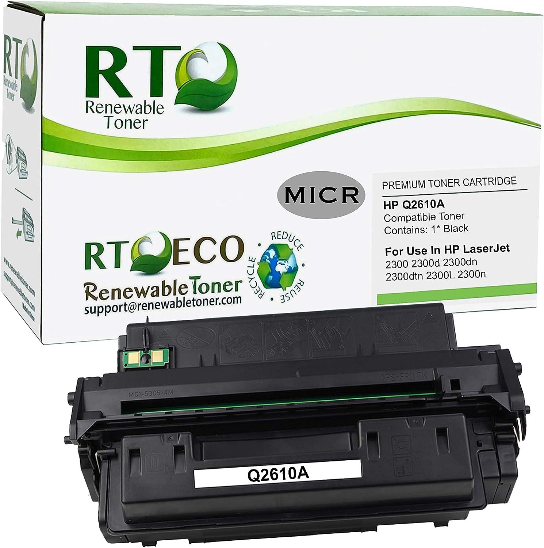 Renewable Toner Compatible MICR Toner Cartridge Replacement for HP 10A Q2610A Laserjet 2300