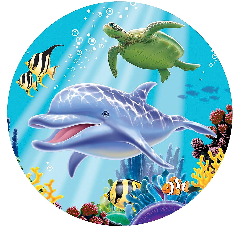 Tortenaufleger Ocean Party als Deko f/ür Torten und Kuchen Meerestiere Fische Meer Kinder Geburtstag Kindergeburtstag Kinderparty Party