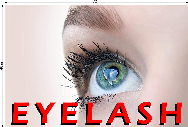 Indoors , 72 Eyelashes II Perforated See Through Transparent Line Pattern Polypropylene Window Film Paper Poster Wallpaper Salon Horizontal Photo-Realistic Paper Poster Matte Non-Laminated