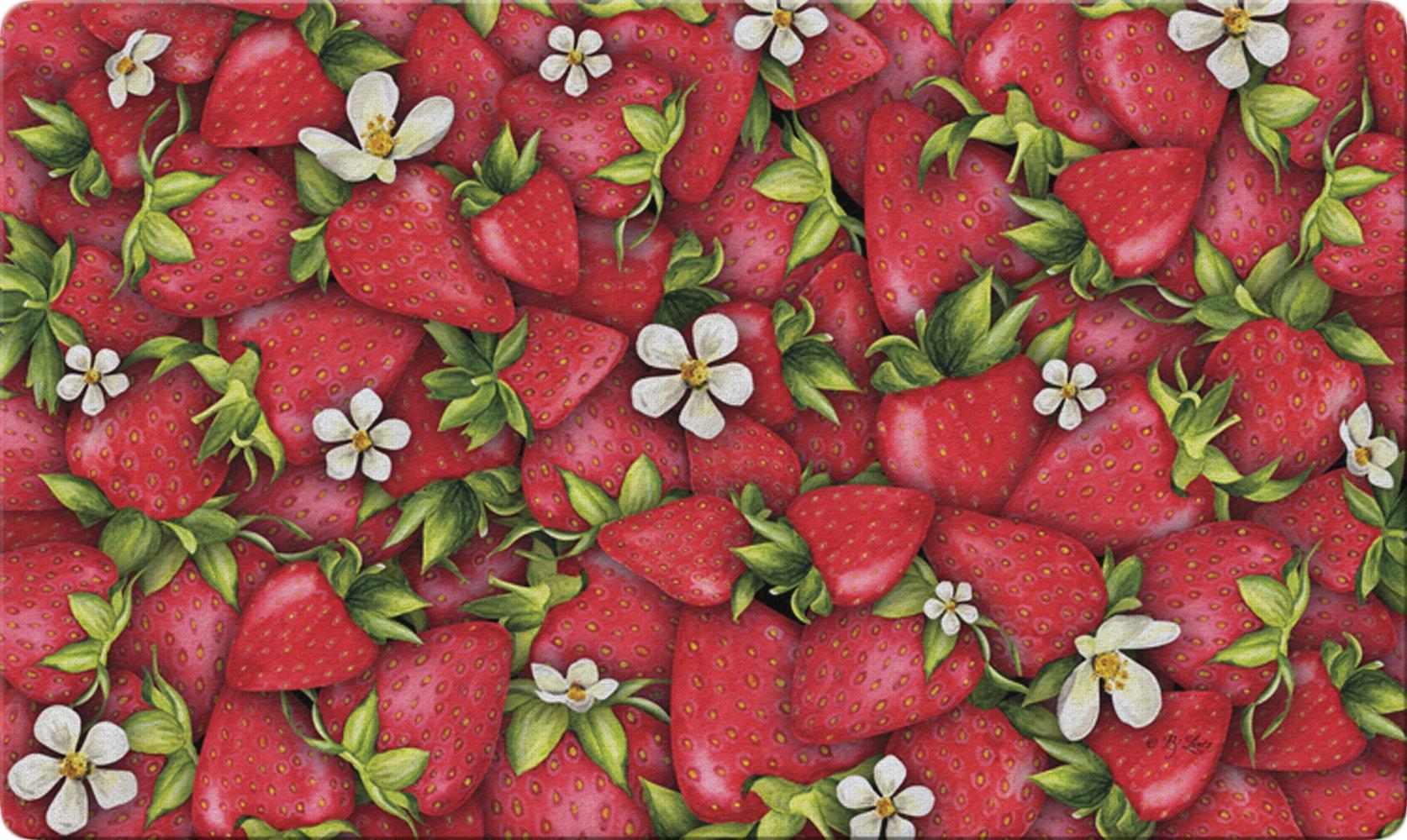 Toland Home Garden Strawberry Collage 18 x 30 Inch Decorative Floor Mat Red Summer Fruit Doormat