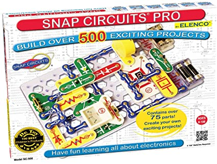 Buy Snap Circuits SC-500 Pro 500 Experiments Electric Circuit Online ...