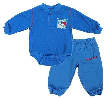 Amazon.com  New York Rangers NHL Baby Boys Infant Creeper and Pants ... 612cfd586