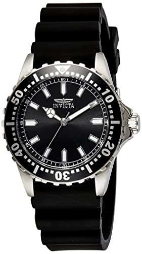 Invicta 21562 Pro Diver Men's Wrist Watch Stainless Steel Quartz Black Dial
