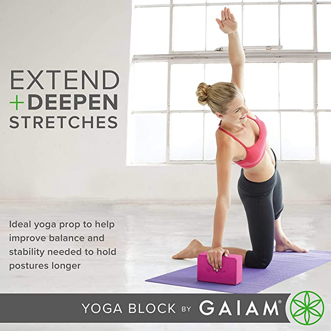 Gaiam Yoga Block Blue Teal, Sports & Outdoor, OS: Amazon.es ...