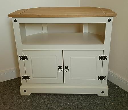 Mercers Furniture Corona – Pintado – Mueble de Esquina para televisor Crema/Pino: Amazon.es: Hogar