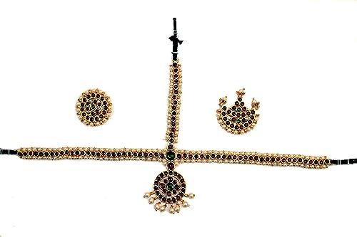Indian Jewelry - Temple Jewelry Head set for Bharatanatyam and Kuchipudi  dance