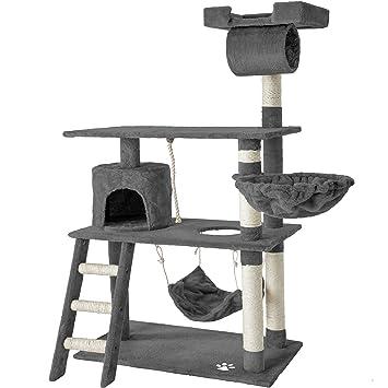 TecTake Rascador para Gatos Árbol para Gatos Sisal Juguetes 141 cm (Gris | no. 401853): Amazon.es: Hogar
