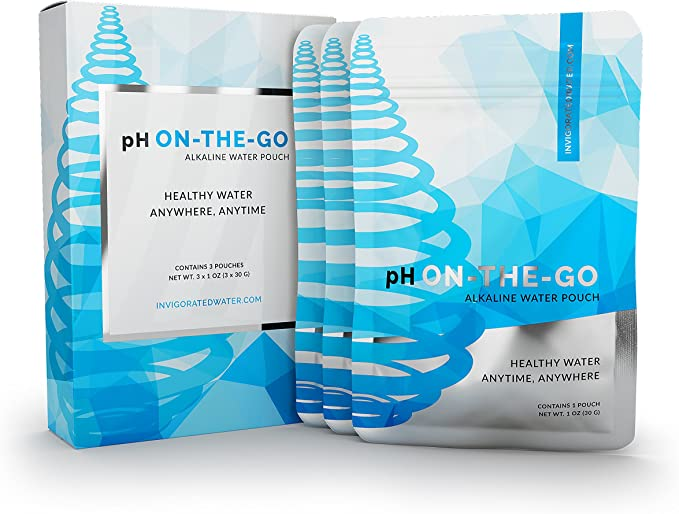 pH ON-The-GO Alkaline Water Filter Pouch- Portable Alkaline Water Filtration