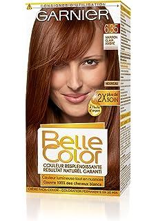 garnier belle color coloration permanente rouge 635 marron clair ambr naturel lot de - Coloration Miel Ambr