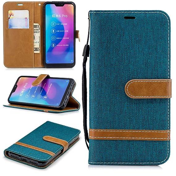 Amazon com: Xiaomi Mi A2 Lite Case, SATURCASE Premium Jeans