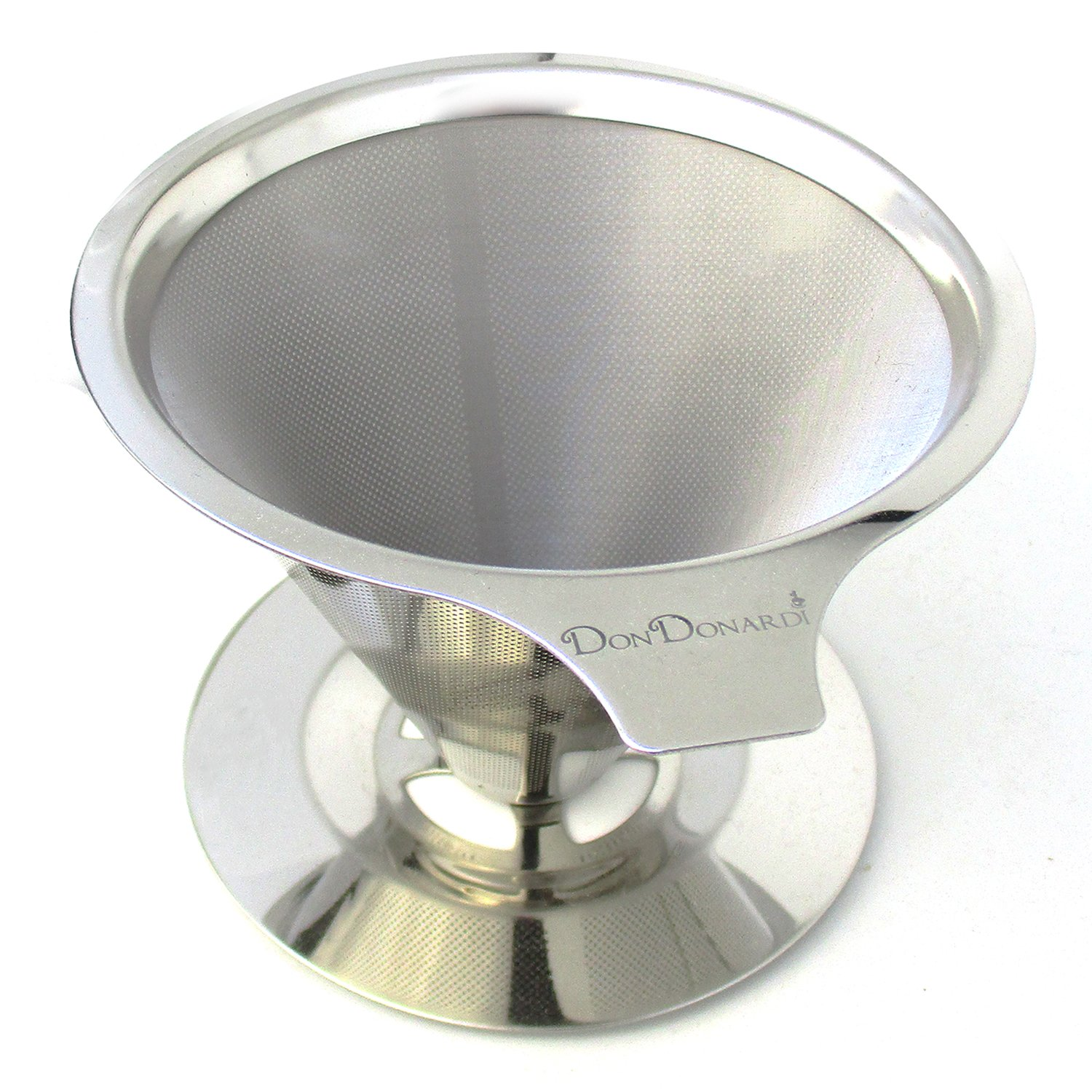 Pour Over Coffee Dripper Maker Filter Reusable Brewer Stainless Steel Personal Strainer Pour Over Cone DonDonardi