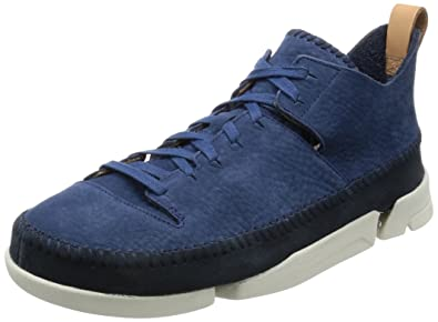Clarks Originals Mens Trigenic Flex Nightblue Nubuck Leather Shoes 10 US