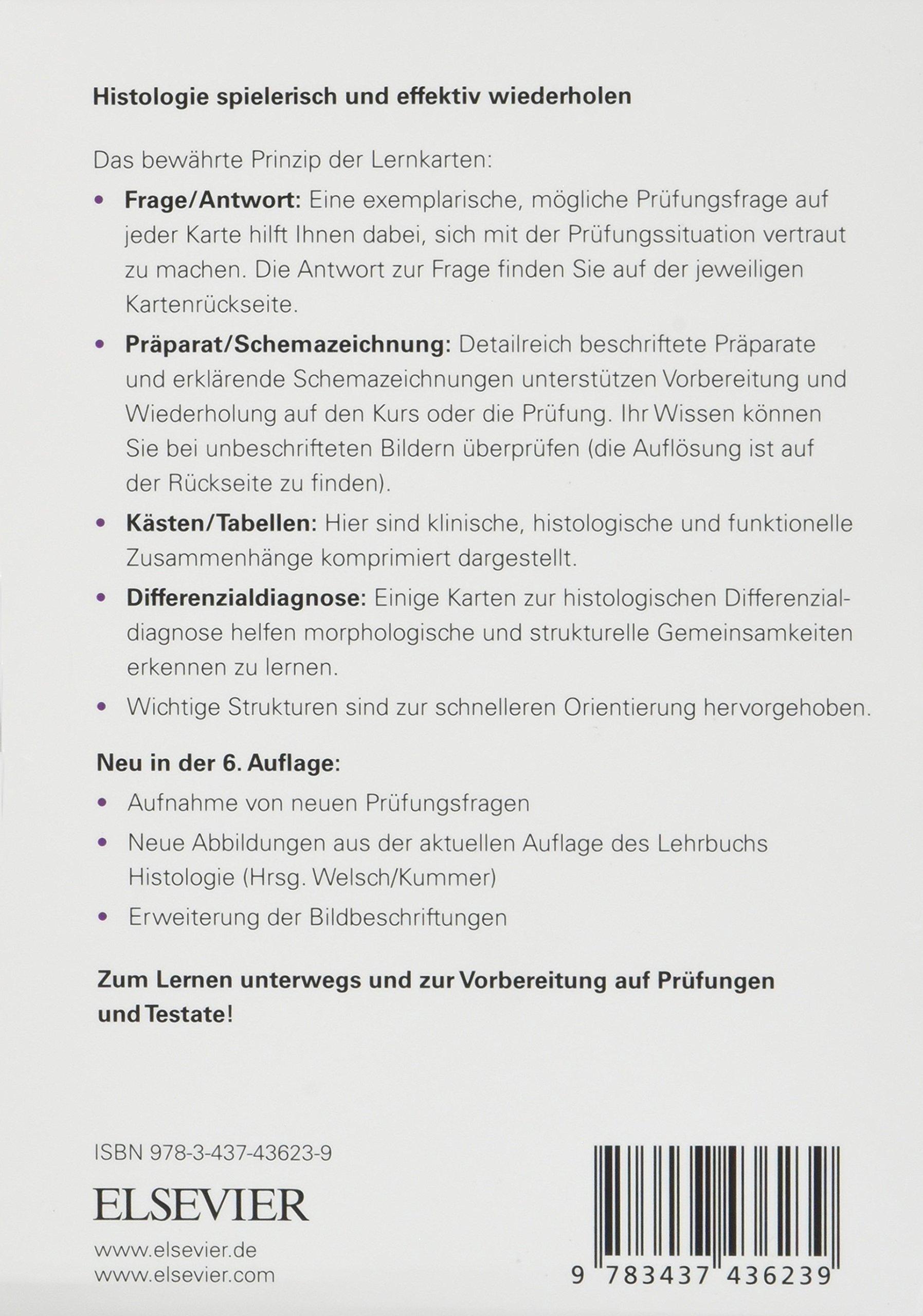 Sobotta Lernkarten Histologie: Amazon.de: Lars Bräuer, Michael ...