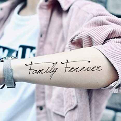 Tatuaje Temporal de Family Forever Autógrafo (2 Piezas) - www ...