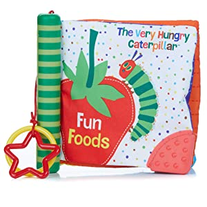 World of Eric Carle, The Very Hungry Caterpillar Fun Foods Soft Book Teether