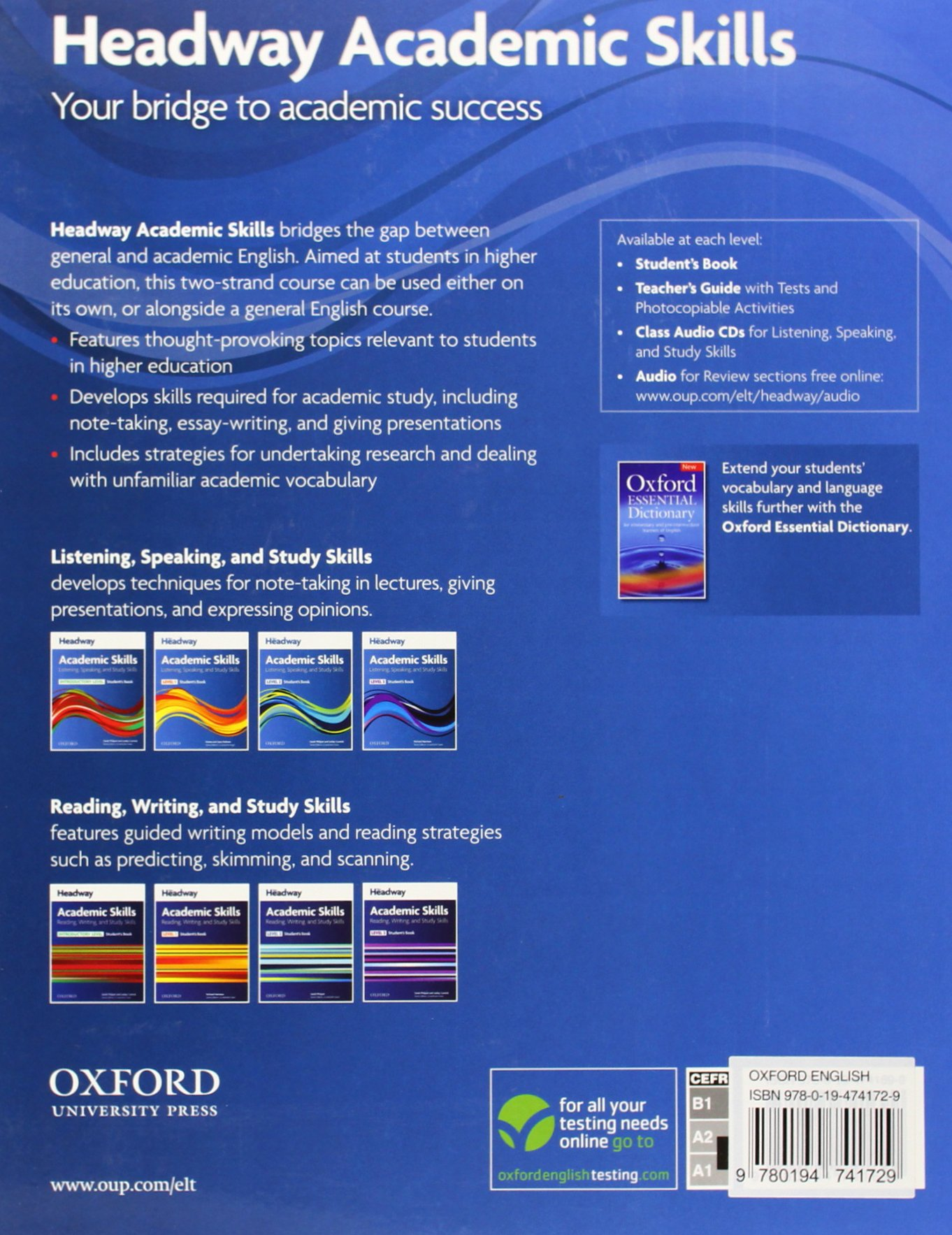 headway academic skills introductory listening speaking and  headway academic skills introductory listening speaking and study skills student s book oxford online skills amazon co uk curnick pathare