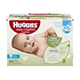 Amazon Price History for:Huggies Natural Care Baby Wipes, Refill, 552 ct, Fragrance Free, Hypoallergenic,  Aloe and Vitamin E