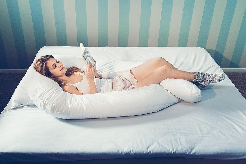 Fossflakes Comfort-U Senior Incluye Funda de Jersey, Lavable a 60 Grados Almohada para Personas Que Duermen de Lado