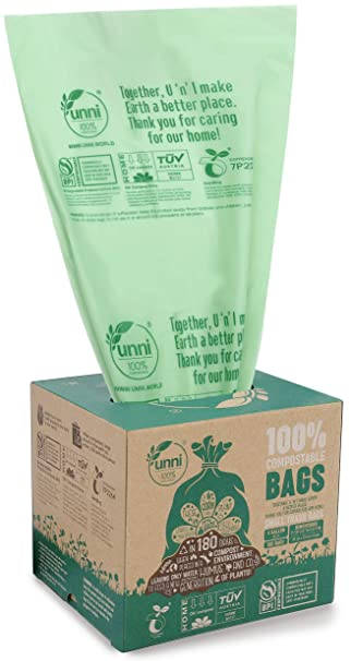Amazon.com: Unni Compostable caca bolsa, 7 x13.5,