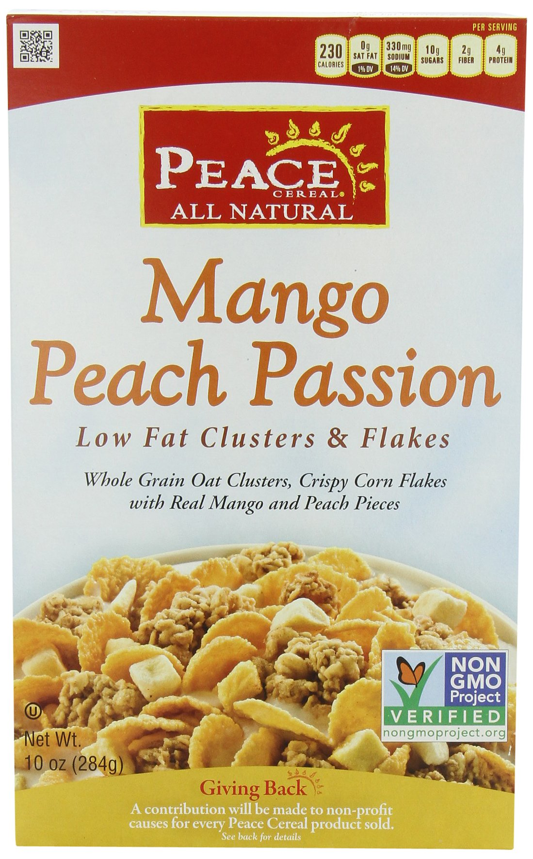 Peace Cereal, Mango Peach Passion, Low Fat, 10-Ounce (Pack of 3)
