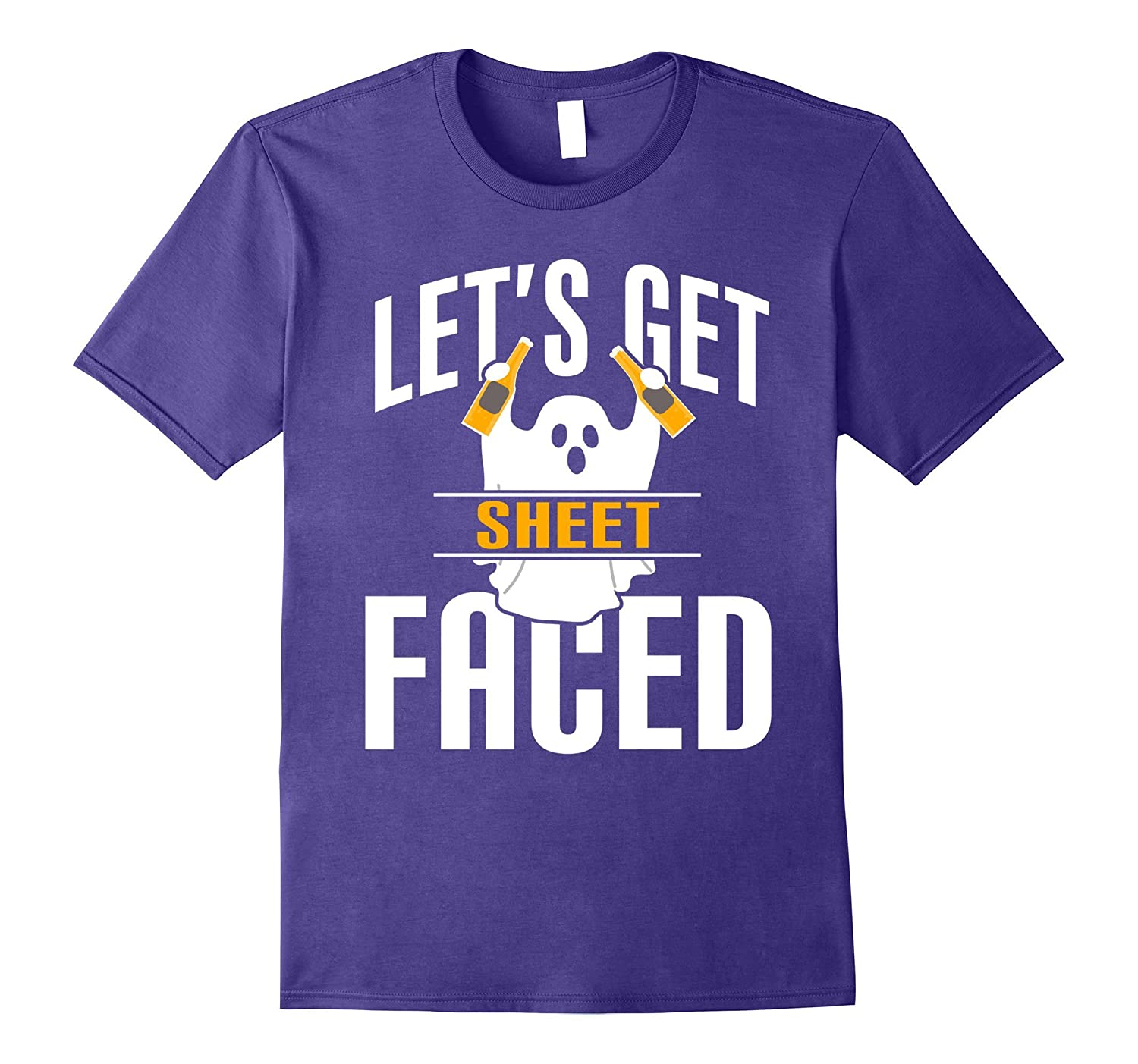 Let's Get Sheet Faced Shirt - Funny Ghost Holiday T Shirt-T-Shirt