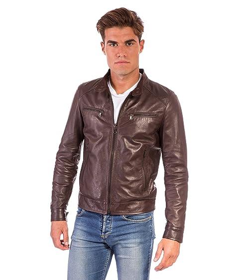 323525eb0 D'Arienzo - Hamilton • Dark Brown Colour • Lamb Leather Jacket ...