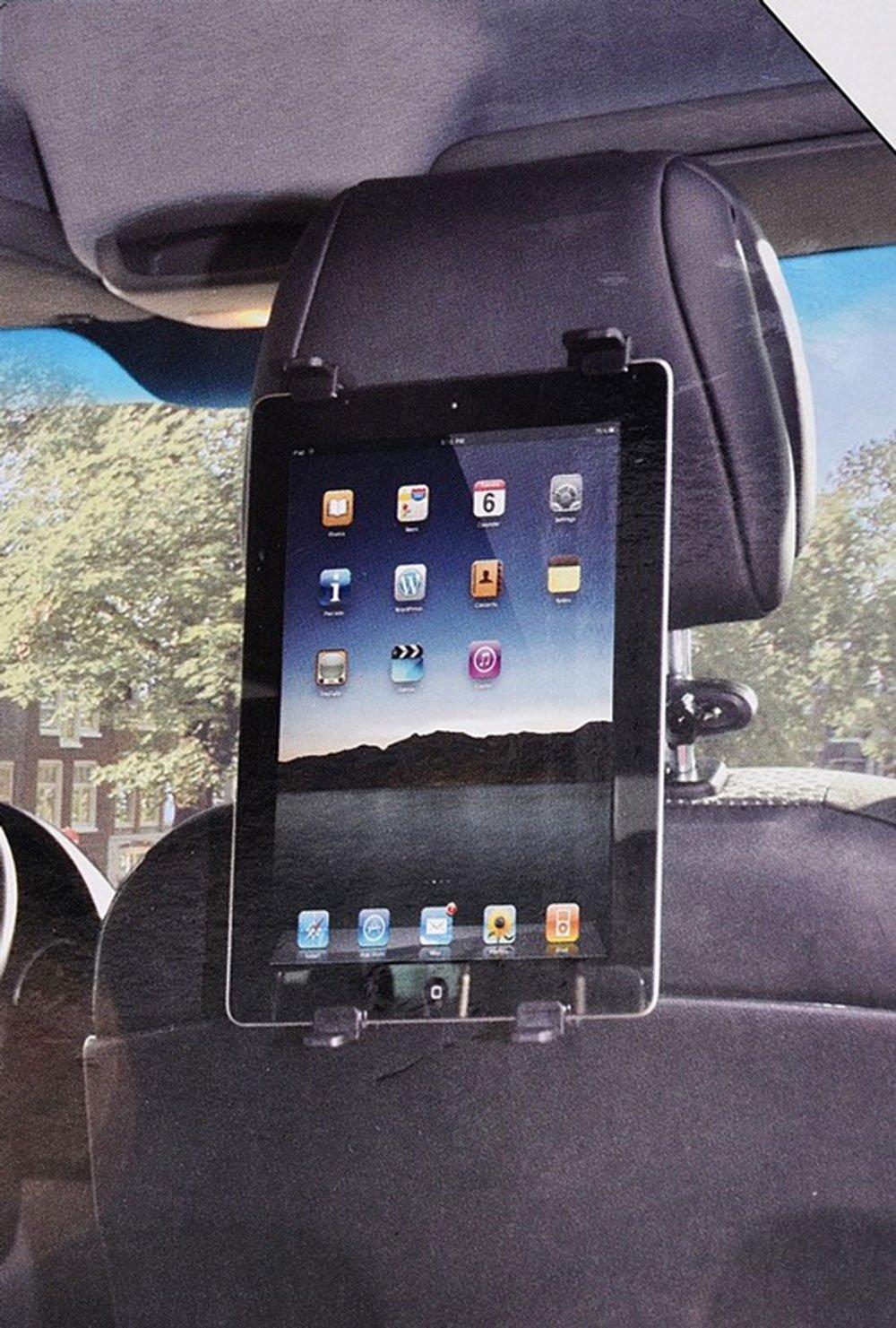 Vetrineinrete® Supporto tablet per auto da agganciare al poggiatesta del sediolino rotante 360 per ipad samsung per viaggio intrattenimento in macchina 7-10 pollici C50