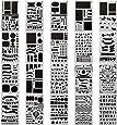 20 pezzi bullet journal stencil over 1000 diversi motivi plastica planner DIY disegno template 10,2 x 17,8 cm pittura stencil per diario scrapbooking e progetti d' arte