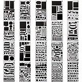 20 Pack Plantilla de Dibujo para Niños bala diario Stencil Set de más de 1.000 diferentes patrones plástico planificador DIY dibujo plantilla pintura plantilla