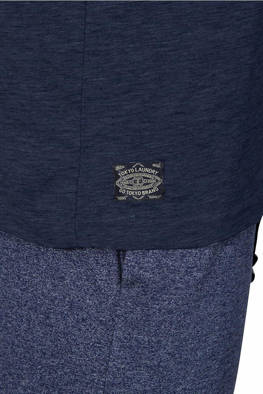 Tokyo Laundry Mens 2 Piece Lounge Wear Cotton Tops and Bottoms Set Pyjamas