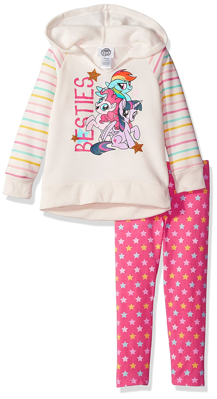My Little Pony Girls' 2 Piece Fleece Hoodie Set