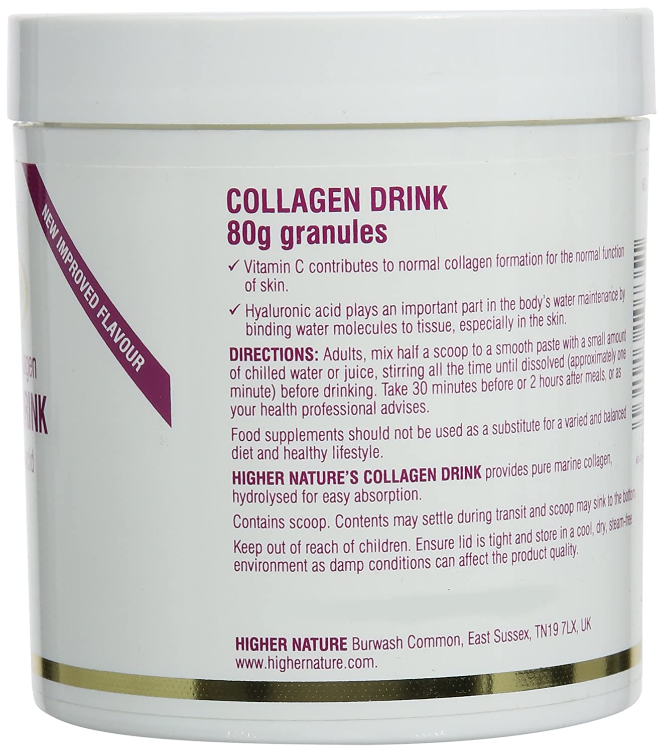 Higher Nature 80g Eterna Gold Collagen Drink: Amazon.es: Salud y cuidado personal