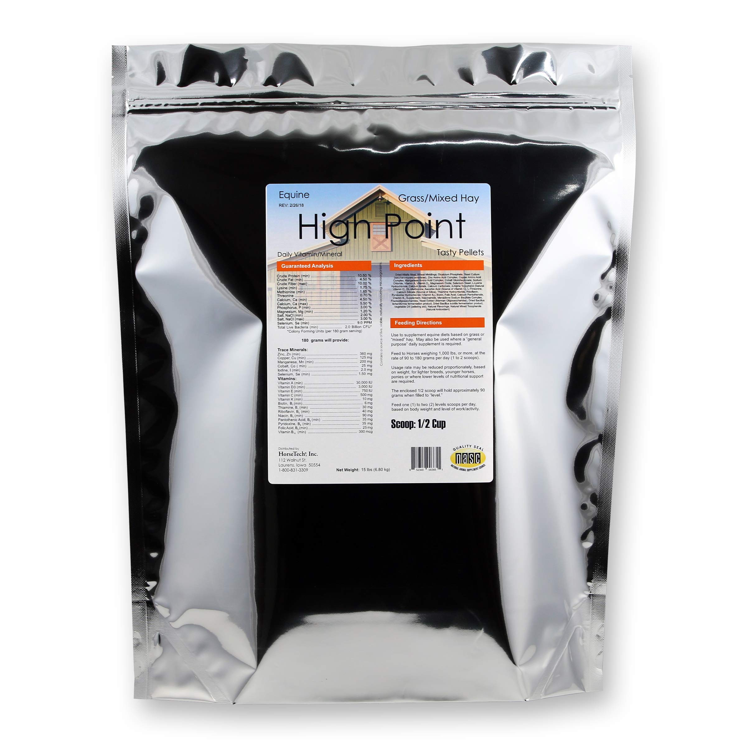 Horsetech High Point Pellets Daily Vitamin Mineral (15 lbs.)