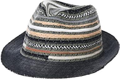 WITHMOONS Fedora Hat Summer Cool Paper Straw Trilby Band for Men SL61057