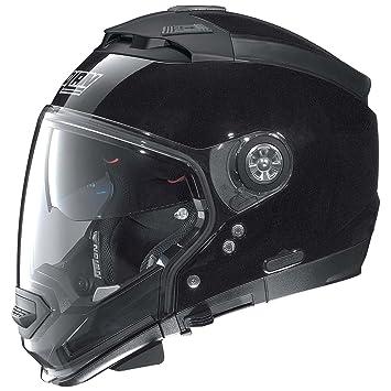 Nolan N44 Evo Special casco Moto Modular Lexan N-Com, Metal negro
