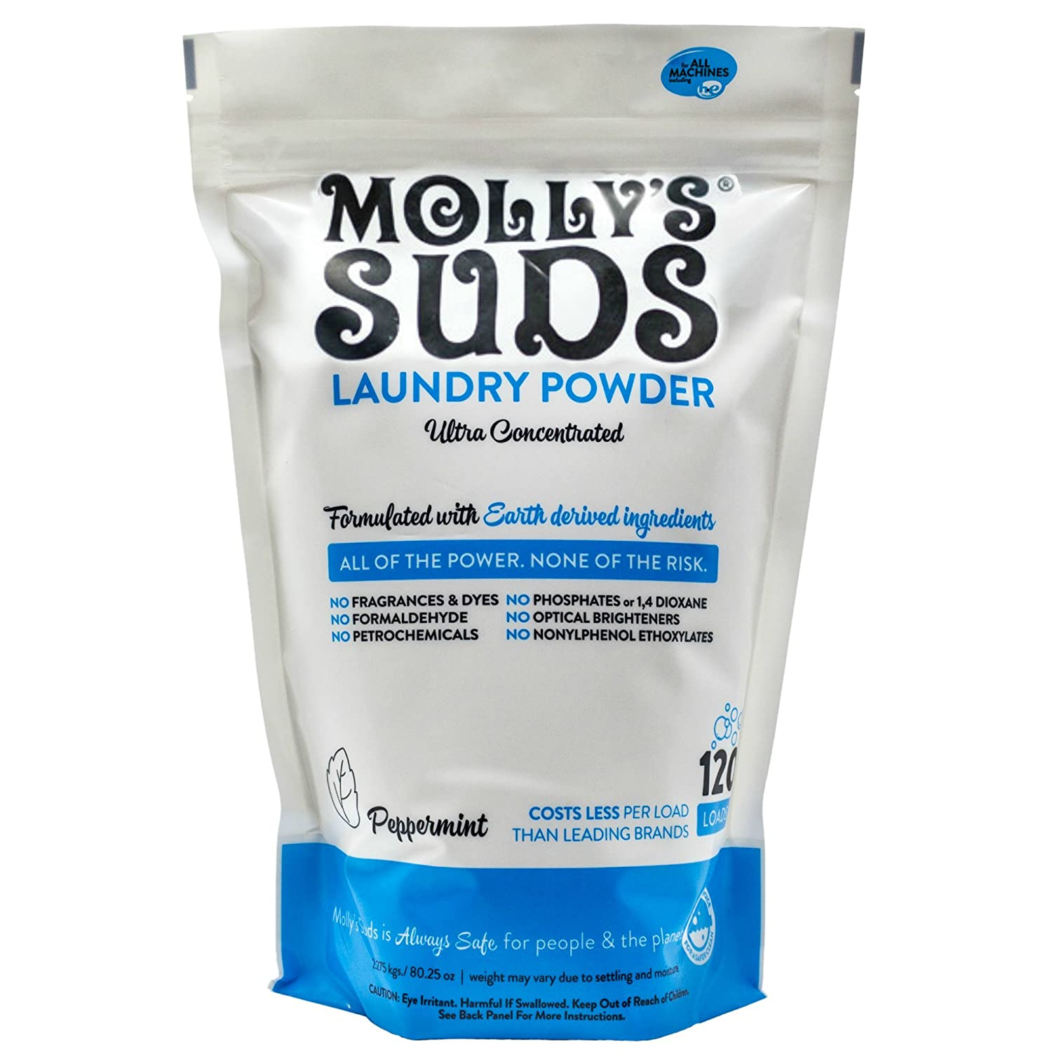 Molly's Suds Natural Laundry Powder Of Parabens & Harsh Chemicals Fragrance & Dye 120 Loads Molly's Suds 6005