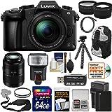 Panasonic Lumix DMC-G85 4K Wi-Fi Digital Camera & 12-60mm + 45-200mm Lens + 64GB Card + Battery + Backpack + Flash + Tripod + Tele/Wide Lens Kit