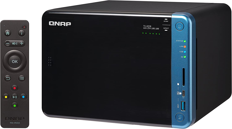 QNAP TS-653B NAS Torre Ethernet Negro - Unidad Raid (Unidad de Disco Duro, SSD, Serial ATA III, 2.5/3.5
